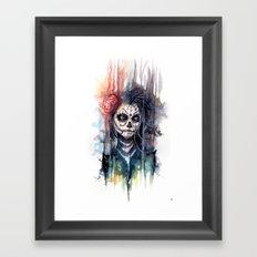 sugar skull - calavera de azucar Framed Art Print