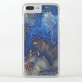Get Cozy Botanical Abstract Clear iPhone Case