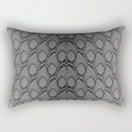 Black and White Python Snake Skin Rectangular Pillow