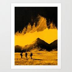 Hello threes of yellow isolation Art Print