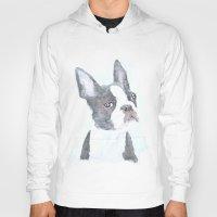boston terrier Hoodies featuring Boston Terrier by S'ANNie