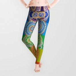 SEVEN CHAKRA SYMBOLS OF HEALING ART Leggings
