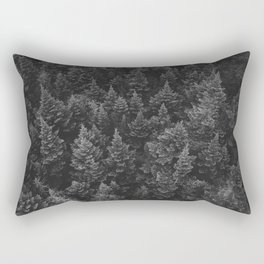 The Forest (Black and White) Rectangular Pillow