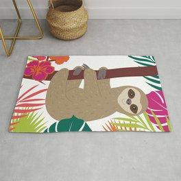 Tropical Sloth Rug