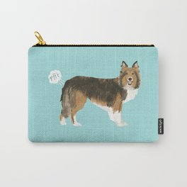 sheltie funny farting dog breed pure breed pet gifts Carry-All Pouch