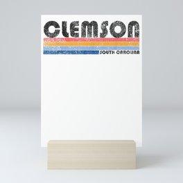 Classic Vintage 1980s Style Clemson SC T Shirt Mini Art Print