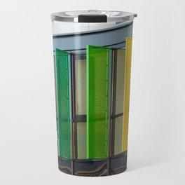 Colorful louvers background Travel Mug