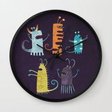 Secretly Vegetarian Monsters Wall Clock