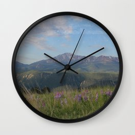 Pikes Peak/ Woodland Park Colorado Wall Clock