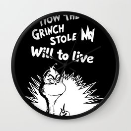 Grinch stole Wall Clock
