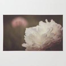 White and Pink Peonies Rug