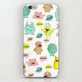 Happy little monsters iPhone Skin