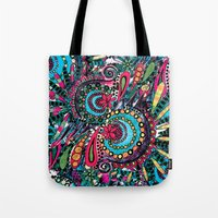 paisley Tote Bags featuring Paisley by Lara Gurney