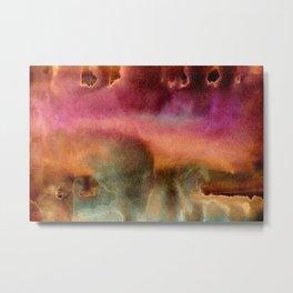 Abstract cosmos watercolor painting Metal Print