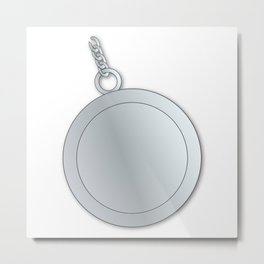 Blank Lucky Silver Charm Metal Print