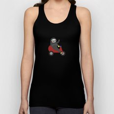 Sloth on Tricycle Unisex Tank Top
