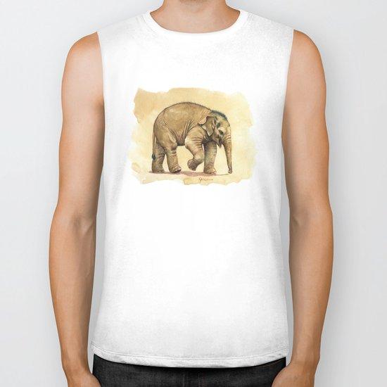Baby elephant A081 Biker Tank