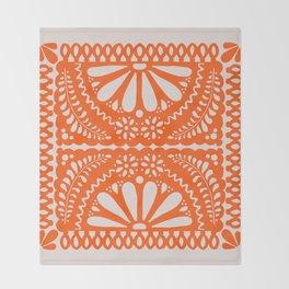 Fiesta de Flores Orange Throw Blanket