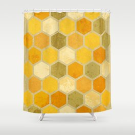 Comb on Bee happy Shower Curtain