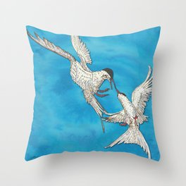 Arctic Terns Throw Pillow
