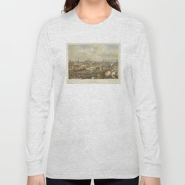 Vintage Pictorial Map of Puebla Mexico (1869) Long Sleeve T-shirt