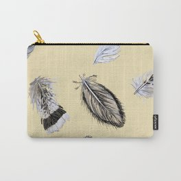 Creamy feathers Carry-All Pouch