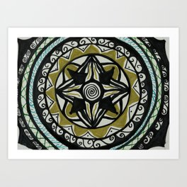 Four Golding Mandala Art Print