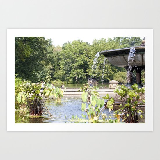Bethesda Fountain Art Print