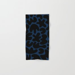 Blob Collage - Navy Hand & Bath Towel