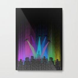 I Belive - Alien UFO Metal Print