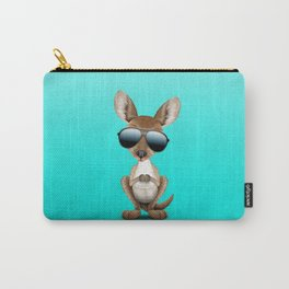 Cool Baby Kangaroo Wearing Sunglasses Carry-All Pouch
