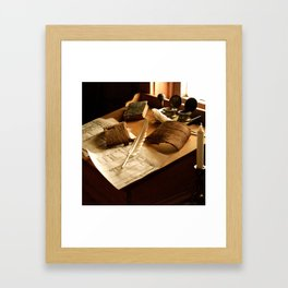 Bookkeeping Framed Art Print