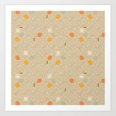 Pastel Square Art Print