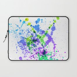 Multicolor Madness - Abstract Splatter Style Laptop Sleeve