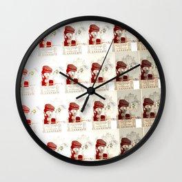 chinese newspaper // retronic Wall Clock