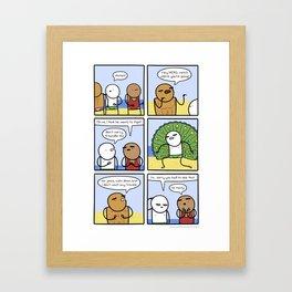 Antics #261 - scare tactics Framed Art Print