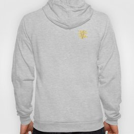 Palm Leaves_Gold and White Hoody