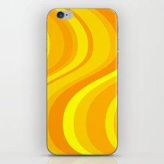Orange Waves iPhone & iPod Skin