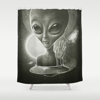 mulder Shower Curtains featuring Alien II by Dr. Lukas Brezak