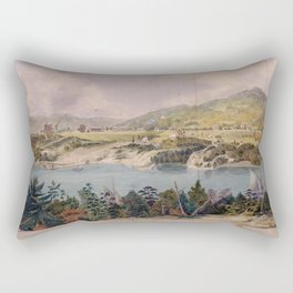 Panorama of West Point from Constitution Island by John Rubens Smith (c 1820) Rectangular Pillow