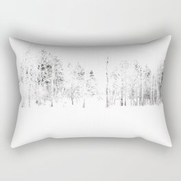 Trees in Winter Vignette | Prospect Landscape | Nadia Bonello | Canada Rectangular Pillow