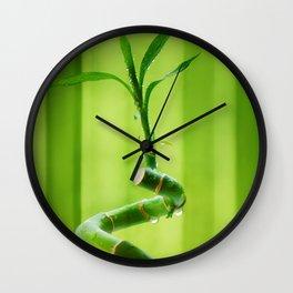 Lucky Bamboo 11 Wall Clock