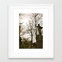 brompton Framed Art Prints featuring West Brompton Cemetary in London by Beeobe
