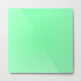 Blue On Green Plaid Metal Print