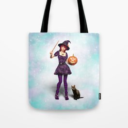 Cute Halloween Witch Tote Bag