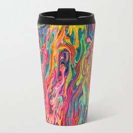 Psychedelic Melting Abstract Rainbow Travel Mug