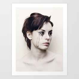 black tears Art Print