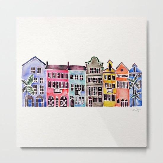 Rainbow Row – Charleston Metal Print