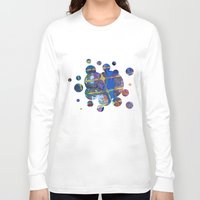 grid Long Sleeve T-shirts featuring Grid by Heather Plewes Art