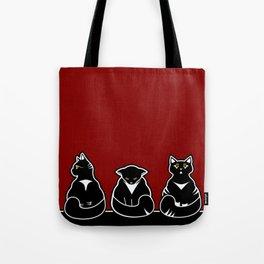 Three not so friendly kitties Tote Bag